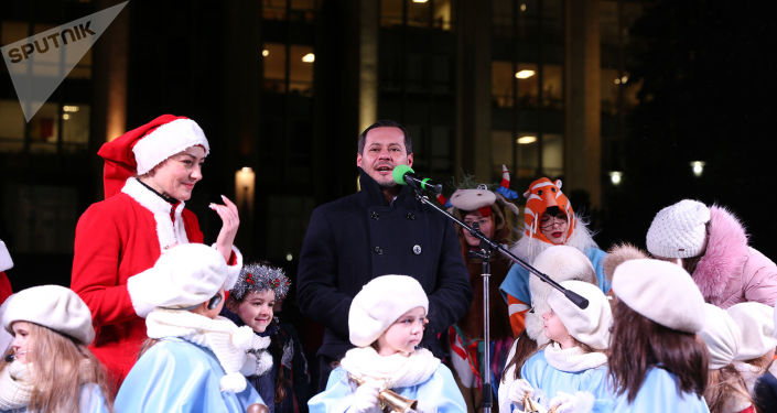 Inaugurarea Pomului de Crăciun în PMAN